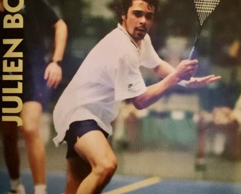 Julien Bonétat (n°1 français 1990-1999, meilleur classement mondial n°11, demi-finaliste du British Open et du Quatar)