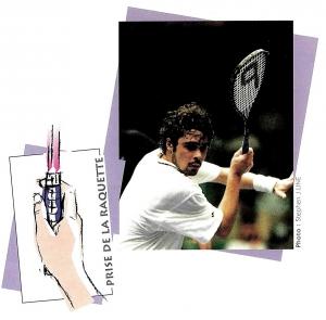 Julien Bonetat - conseil pour la prise de la raquette